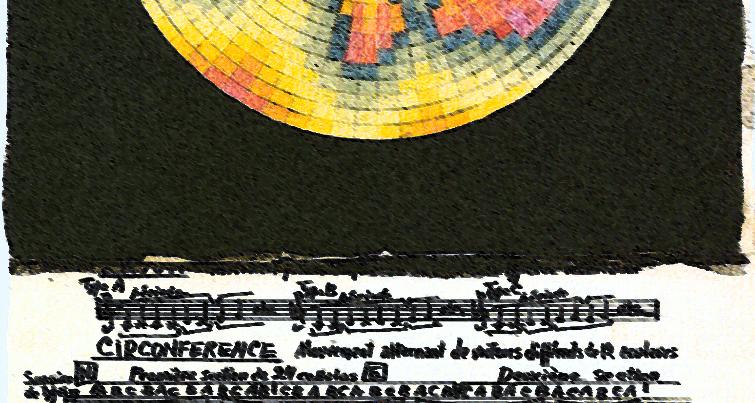 Mosaico cromático unido a su obra correspondiente.