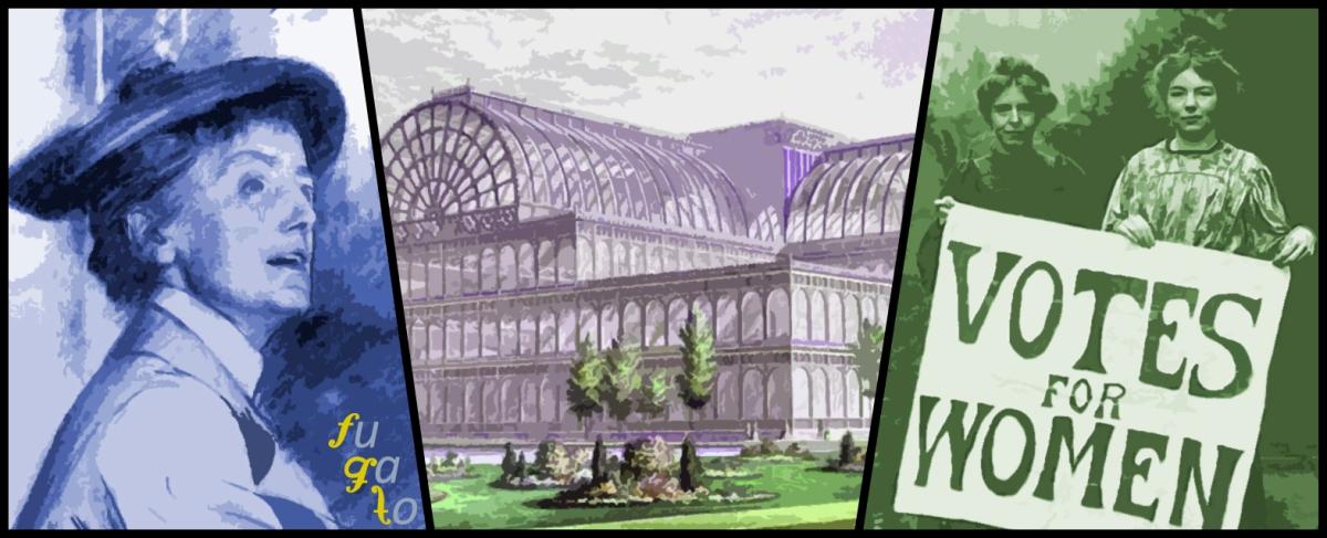 Ethel Smyth, Palacio de Cristal de Londres y dos sufragistas.
