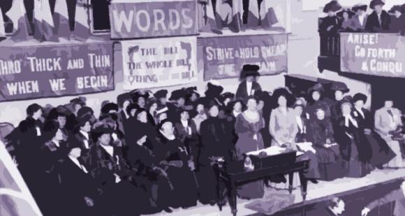 Reunión de la Unión Social y Política de las Mujeres.