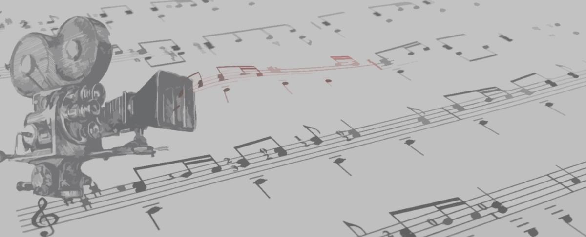 """Encabezado de la sección """"Palomitas y partituras""""."""
