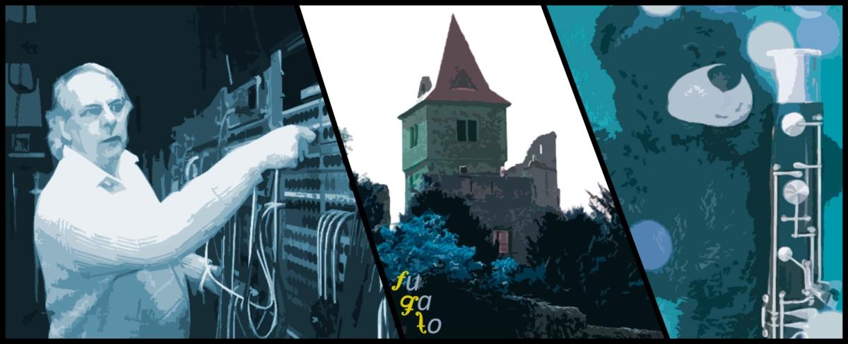 Karlheinz Stockhausen, Castillo de Frankenstein en Darmstadt y un oso de peluche con un fagot.