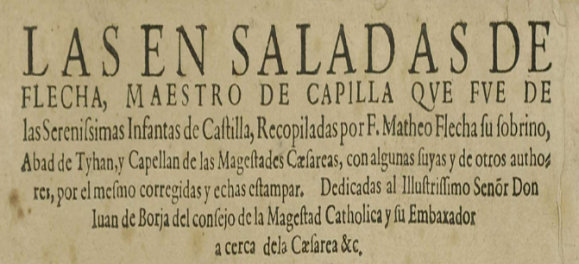"Comienzo de ""Las ensaladas de Flecha""."
