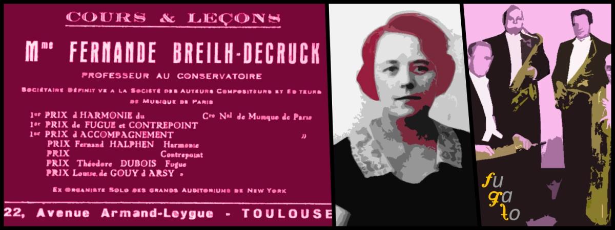 Anuncio de las clases de Fernande Breilh-Decruck, la compositora y el Cuarteto de la Guardia Republicana.