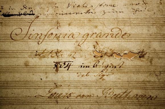 """Dedicatoria de la """"Sinfonía no. 3"""" de Beethoven."""
