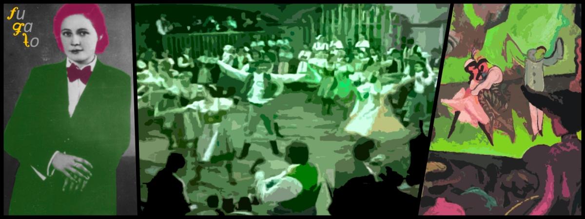 """Vítězslava Kaprálová, personas bailando una furiant y cuadro sobre el ballet """"Petrushka""""."""