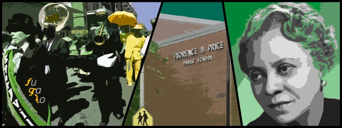 Main y second line en un funeral, colegio Florence B. Price en Chicago y Florence Price.