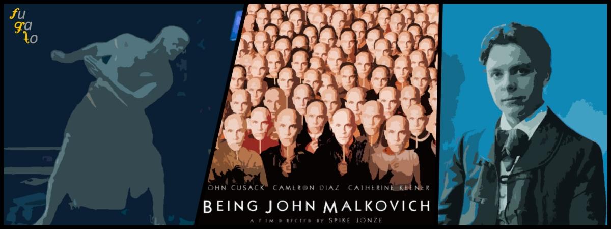 """Escena de """"Cómo ser John Malkkovich"""", póster de la película y Béla Bartók."""