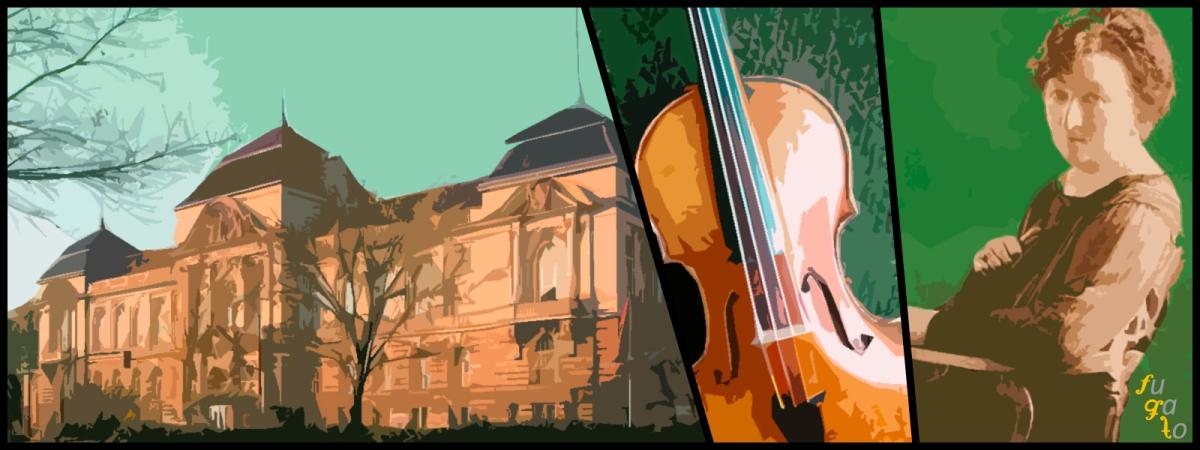 Universidad de las Artes de Berlín (antigua Hochschule für Musik), un violín y Elisabeth Kuyper.