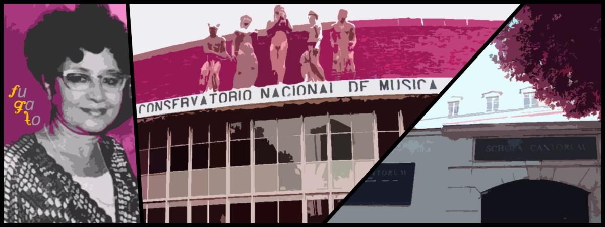 Alicia Urreta, Conservatorio Nacional de Música y Schola Cantorum.